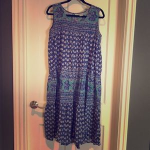 Vintage Indian cotton dress size M